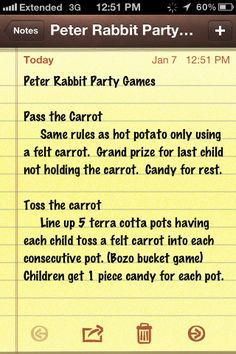 Peter Rabbit Party Game