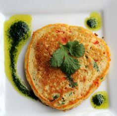 Savory Asian Quinoa Pancakes with Parsley-Cilantro Vinaigrette {Healthy, Vegetarian)