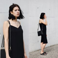 Get this look: http://lb.nu/look/8249517  More looks by Schwarzer Samt: http://lb.nu/schwarzersamt  Items in this look:  C&A Bag, H&M Slip Dress, Edited Sandals   #classic #minimal #street