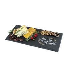 Rustic Holiday: Merry & Bright Slate Cheese Board by Twine, Multi