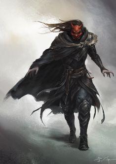 by Yang Liu Fantasy Samurai, Fantasy Armor, Dark Fantasy Art, Fantasy Character Design, Character Design Inspiration, Character Concept, Character Art, Dungeons And Dragons Characters, Dnd Characters