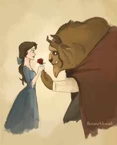 Something There by ~compoundbreadd on deviantART (Belle ~ Beauty and the Beast)