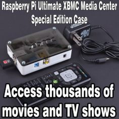 Raspberry Pi XBMC Media Center Special Edition B w Case Remote Accessories | eBay