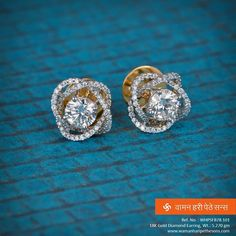 #Beautiful #charming #stylish #sparkling #gold #diamond #earring for the #gorgeous look you desire.