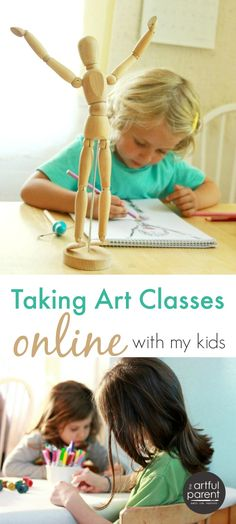 Taking Online Art Classes with My Kids
