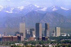 Denver skyline & Flat Irons near Boulder, Co