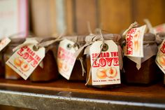 DIY wedding favors  www.stewarthunterphotography.com - with websters? or tiny honeys?