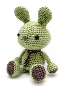 Wasabi the Bunny amigurumi crochet pattern by Little Muggles