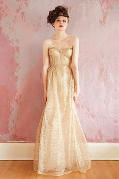 Sarah Seven gold wedding dress - love the gold, and it's actually a wedding dress AND actually affordable. Amazing!