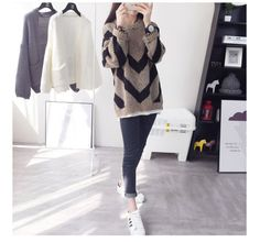 Women-Loose-Knitted-Sweater-Long-Sleeve-Pullover-Wool-Acrylic-Blend-Jumper-Tops