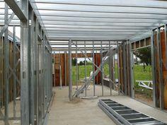 Hice mi casa en Steel Framing y quiero compartirlo - Taringa! Tyni House, Shop House Plans, House Roof, Steel Building Homes, Metal Building Kits, Building A House, Building Ideas, Steel Frame House, Steel House
