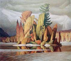 A.J. Casson (Ontario 1898-1992)-Little Island