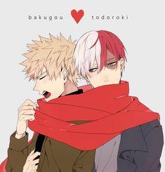 Boku no Hero Academia || Katsuki Bakugou, Todoroki Shouto.