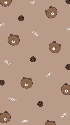 LINE CUTE FOLOW NGÂN ĐỂ XEM NHIỀU HƠN THẾ NỮA  #3 #new #pinterest #love #like4like #wallpapers Walpaper Iphone, Wallpaper Iphone Cute, Kawaii Wallpaper, Lock Screen Wallpaper, Cute Wallpapers, Brown Wallpaper, Bear Wallpaper, Wallpaper Pictures, Pattern Wallpaper