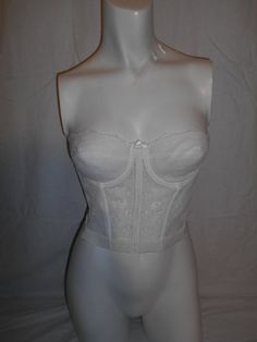 Vintage 80's 90's  white  lace   Strapless by ATELIERVINTAGESHOP