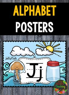 Alphabet Posters! Decorate you classroom with these bright alphabet posters. This ALPHABET POSTERS pack contains: * Alphabet Posters: A-Z Sun and Surf background * Alphabet Posters : A-Z Blue background * Alphabet Posters: A-Z Yellow background * Alphabet Posters: A-Z low ink * Alphabet Posters: A-Z b/w Teaching Resources, Teaching Ideas, Alphabet Posters, Yellow Background, Blue Backgrounds, Elementary Schools, Surfing, Students, Classroom