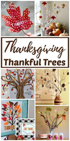 The best thankful trees for Thanksgiving! Give thanks and cultivate an attitude of gratitude, in the home, during the holidays with a thankful tree tradition. As a bonus, they make lovely autumn DIY h Thanksgiving Tree, Thanksgiving Crafts For Kids, Thanksgiving Traditions, Thanksgiving Parties, Thanksgiving Activities, Thanksgiving Decorations, Fall Crafts, Holiday Crafts, Holiday Fun