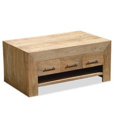 Stone 3 Drawer Coffee Table