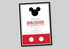 mickey mouse birthday invitation - custom