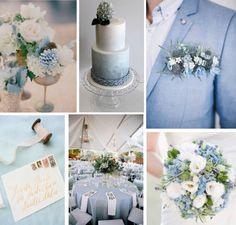 serenity board, pantone color of the year.  Wedding color combination, wedding color scheme