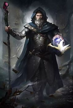 Fantasy Witch, Fantasy Wizard, Fantasy Male, Fantasy Armor, Dark Fantasy, Fantasy Magician, Dungeons And Dragons Characters, D D Characters, Fantasy Characters