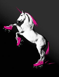 Print: Unicorn on Roller Skates. $22.00, via Etsy.