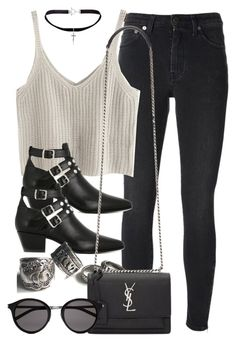 """Style #10985"" by vany-alvarado ❤ liked on Polyvore featuring Yves Saint Laurent"