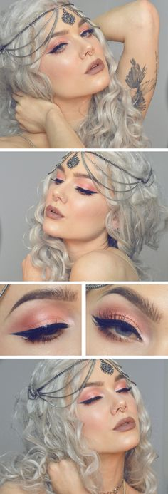 Peach prettiness - Makeup tutorials you can find here: www.crazymakeupideas.com