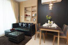 Sala pequena bem mobiliada com uma decoração integrada deixa o espaço criativo e estiloso (Foto: Shutterstock)