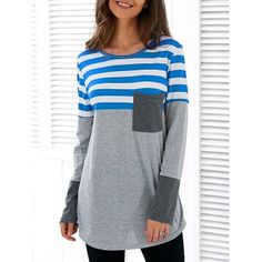 SHARE & Get it FREE | Patchwork Striped Asymmetric T-ShirtFor Fashion Lovers only:80,000+ Items·FREE SHIPPING Join Dresslily: Get YOUR $50 NOW!