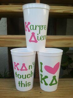 Kappa Delta 20oz Personalized Plastic