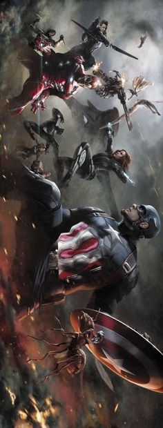 Captain America: Civil War by Alexander Lozano * - visit to grab an unforgettable cool 3D Super Hero T-Shirt!