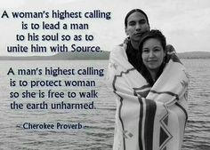 Love this Cherokee Proverb.  My heritage.