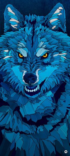 """""""Blue Wolf"""" illustration was the image for the Hurricane/Southside Festival, held in Germany last year. Drawing People Faces, Cartoon Drawings Of People, Animal Drawings, Art Drawings, Wolf Illustration, Wolf Wallpaper, Wallpaper Backgrounds, Wallpapers, Nike Wallpaper"""