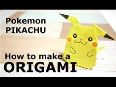 【Pokemon/PIKACHU】How to make an easy Character ORIGAMI ポケモン・ピカチュウ全身 簡単☆キャラクター 折り紙 作り方 - YouTube