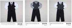 South Suburban Savings: Get 3 Piece Boys Suit Sets with Tie for $13.25 SHIPPED!
