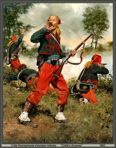ACW Union: 114th Pennsylvania Volunteer Infantry, Collos's Zouaves 1863, by Don Troiani. (www.dontroiani.com)