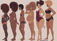 Dare to love your Brown body nichollekobi illustration nichollekobi naturalhairhellip