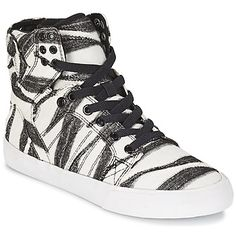Designer Clothes, Shoes & Bags for Women White High Top Sneakers, White High Tops, Supra Skytop, Supra Shoes, Baskets, Top Shoes, Shoes Sneakers, Trainers, Polyvore