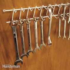 """Garage Storage on a Budget • Ideas and tutorials, including this """"tie rack storage"""" by 'Family Handyman'..."""