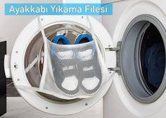 Ayakkabı ve İç Çamaşır Yıkama Filesi: Mesh Dryer Bag Washing Machine, Home Appliances, House Appliances, Appliances