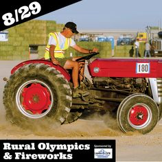 Don't miss your chance to see Hay Stealing, Tractor Barrel Racing, Tug-of-War, Antique Car Potato Racing, and many more at this year's Rural Olympics August 29th, 6:00pm!  Fireworks will follow shortly after the Rural Olympics to end the night in an explosion of color! Grandstand Seating is FREE with paid Fair Admission!  If you would like to enter the Rural Olympics, Entry Forms & Rules can be found at avfair.com.