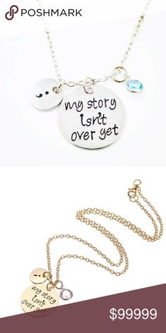 """⚡️SALE⚡️Silver """"My Story Isn't Over Yet"""" Necklace Brand New Boutique Item In Packaging And Mesh Bag. Silver Tone Necklace. Makes A Beautiful Gift For Yourself Or Your Loved Ones. 50 cm Boutique Jewelry Necklaces"""