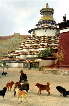 Pelkhor Chode , Gyantse Tibet* Arielle Gabriel writes about miracles and travel in The Goddess of Mercy & The Dept of Miracles also free China toys and paper dolls at The China Adventures of Arielle Gabriel *