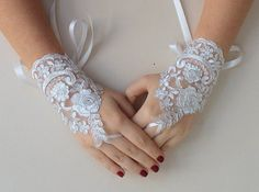 Bridal silvery white gloves, wedding bridal accessories, Ready to shipping.