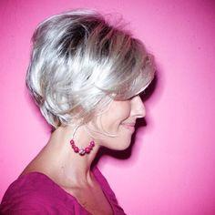 Lovely short hairstyle. #hair #beauty #GreyandFabulous