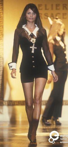 Helena Christensen - Atelier Versace. 1993