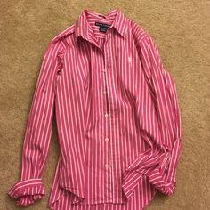 Polo Women's Oxford Shirt Slim Fit Size 8 Ralph Lauren Tops Button Down Shirts