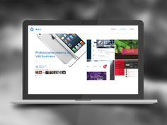 Ambitious rebranding by Erik Adler Web Design, Business, Design Web, Store, Business Illustration, Website Designs, Site Design