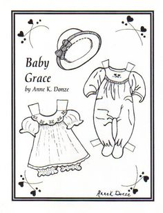 Baby Grace Paper Doll Outfit